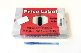 Motex L2612WHITE Label/White For 2612 Price Gun - White