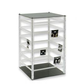 """Rotating Earring Display 96-2"""" Cards 17""""(H) / Clear"""