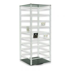 """Rotating Earring Display 144-2"""" Cards 24-1/2""""(H) Clear"""