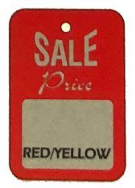 """Promotional Sale Tag, 1 1/4"""" X 1 7/8"""", Sale Price, Unstrung, 1,000 Pcs"""