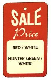 "Promotional Sale Tag, 1 3/4"" X 2 7/8"", Sale Price, Unstrung, Red, 1,000 Pcs"