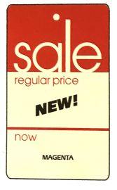 """Promotional Sale Tag, 1 3/4"""" X 2 7/8"""", Sale, Strung, 1,000 Pcs"""