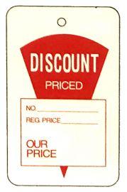 "Promotional Sale Tag, 1 3/4"" X 2 7/8"", Discount Priced, Unstrung, 1,000 Pcs, Large"