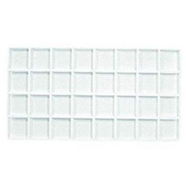 Durable Plastic Tray Liner 32 Compartment / White