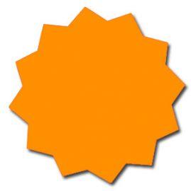 """Die Cut Star, Blank, Fluorescent Orange, 5.5"""", 25 Pcs"""