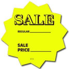 "Fluorescents Die Cut Stars/ Sale,Green, 4"", 25 Pcs"