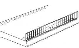 "Gondola Standard Wire Fencing, 48""(L) X 3""(H), Beige"