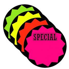 "Fluorescents Die Cut Bursts / Special,Circle, 5"", 100 Pcs"