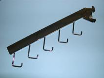 """Chrome/5 Hook Waterfall Rectangular Tube For Standard 1"""" Slot 2"""" On Center"""