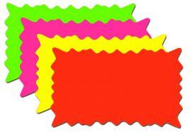 "Fluorescents Die Cut Bursts / Blank, 5"" X 3"", 100 Pcs"