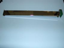 "Chrome/14"" Rectangular Tube Faceout For Rectangular Horizontal"
