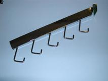 Chrome/5 Hook Rectangular Tube Waterfall For Rectangular Horizontal