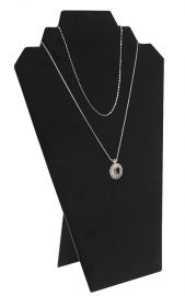 """Double Pointed Necklace Display With Easel 12 1/2""""(H) / Black"""