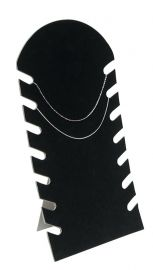 """7 Slot Necklace Display With Easel 14 1/8""""(H) / Black"""