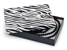 """Cotton Filled Box 5-3/8"""" x 3-7/8"""" x 1"""" Zebra / 100Pcs"""