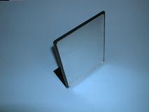 "Clear/9""(W) X 12""(H) Plexi Countertop Mirror With Black Border Vertical"