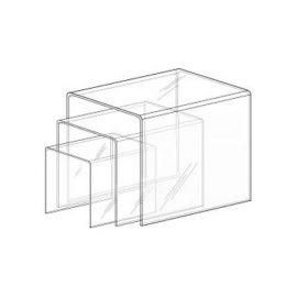"""U"" Shaped Plexiglass Risers 1/8"" Thick (Set Of 3)"
