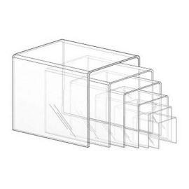 """U"" Shaped Plexiglass Risers (Set Of 6)"