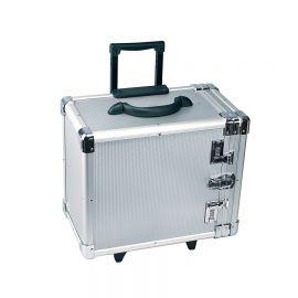 Hard Sided Carrying Aluminum Case Holds 12 Trays Aluminum