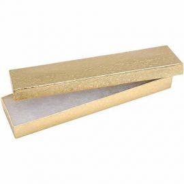 "Cotton Filled Box 8"" x 2"" x 1"" Gold / 100Pcs"