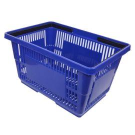 "Plastic Shopping Basket 18"" L X 12"" W X 10"" H - Blue"