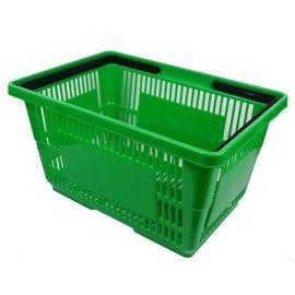 "Plastic Shopping Basket 18"" L X 12"" W X 10"" H - Green"