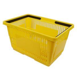 """Plastic Shopping Basket 18"""" L X 12"""" W X 10"""" H - Yellow"""