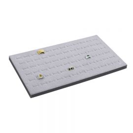 Tray Insert Ring Foam 72 Slot, Premium Quality with soft surface, 14 1/8 W x 7 5/8 L, Landscape Display, Grey