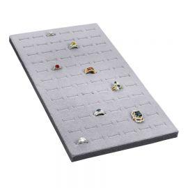 Tray Insert Ring Foam 72 Slot (Economic Quantity), 7 5/8 W x 14 1/8 L, Portrait Display, Grey