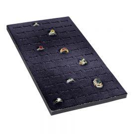 Tray Insert Ring Foam 72 Slot (Economic Quantity), 7 5/8 W x 14 1/8 L, Portrait Display, Black