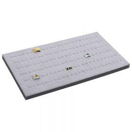 Tray Insert Ring Foam 72 Slot (Economic Quantity), 14 1/8 W x 7 5/8 L, Landscape Display, Grey