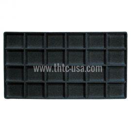 "Flocked Tray Insert 2-1/8""X1-5/8"" / Black"