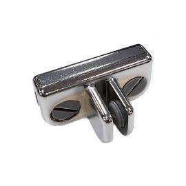 3 Way Adjustable Metal Cubbie Clip - Chrome