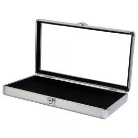 """24""""(W) X 20""""(D) X 3""""(H) Alumiunm Glass Top Case"""