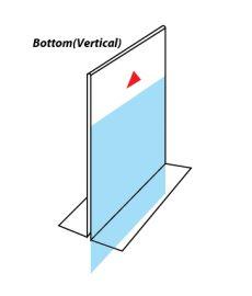 "Counter Bottom Sign Holder, 8 1/2""(W) X 11""(H)"