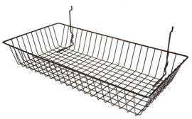 "Shallow Slatwall Basket, 24""(L) X 12""(W) X 4""(H), Pack Of 6"