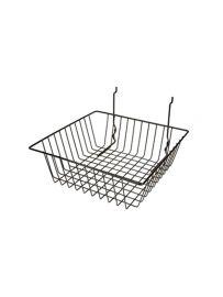 """Small Slatwall Basket, 12""""(L) X 12""""(W) X 4""""(H), Pack Of 6"""