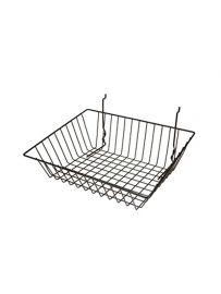 "Sloping Slatwall Basket, 15""(L) X12""(W) X 5""(H), Pack Of 6"