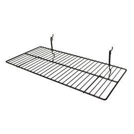 "Wire Shelf For Grid/Slat Wall- 23 1/2""W X 12""D, Pack Of 6"