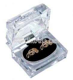 Crystal Cut Double Ring Box Clear, 1 Dozen