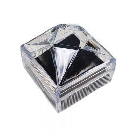 """Crystal Style Clear Earring Boxes, 1 7/8""""(W)x 1 7/8""""(L) x 1 7/8"""" (H), 2 Dozen (24 pcs)"""