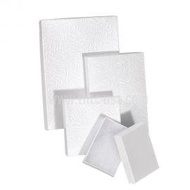 """Cotton Filled Box 2-5/8"""" x 1-1/2"""" x 1"""" White / Gold / Silver / 100Pcs"""