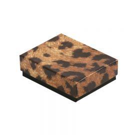 """Cotton Filled Box 3-1/4"""" x 3-1/2"""" x 1""""Leopards / 100Pcs"""