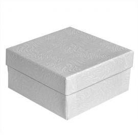 """Cotton Filled Box 3-3/4"""" x 3-3/4"""" x 2"""" White / 100Pcs"""