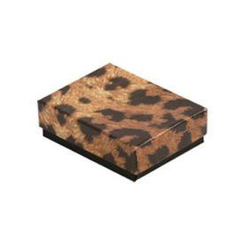 """Cotton Filled Box 7-1/8""""x 5-1/8"""" x 1-1/8"""" Leopards / 100Pcs"""