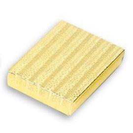 "Cotton Filled Box 7-1/8""x 5-1/8"" x 1-1/8"" Gold / 100Pcs"