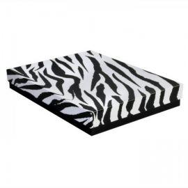 """Cotton Filled Box 7-1/8""""x 5-1/8"""" x 1-1/8"""" Zebra / 100Pcs"""