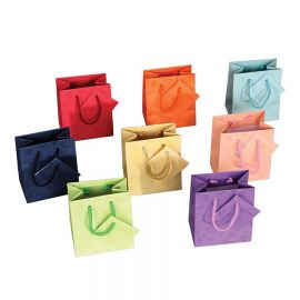 """Mixed Pastel Color Shopping Tote Bags, 4.75"""" W x 6.75"""" L - 20Pcs"""