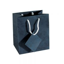 "Pastel Deep Sky Blue Shopping Tote Bags, 4"" W x 4.5"" L - 10Pcs"