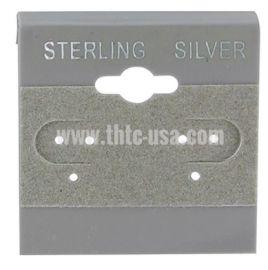 "Hanging Earring Card 2"" Square Silver Grey /1Pk(100Pcs)"